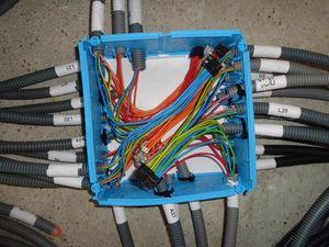 Raccordement de tous les fils électrique.