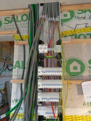 Raccordement des gaines électrique